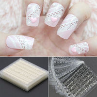 Pack of 20 Sheets Classy Lace Nail Art Decals. Black, White and Assorted Colours Available £8.99