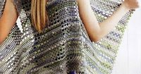 This crochet vest/wrap is so light and lacy, and features gorgeous colors. ~CAWeStruck