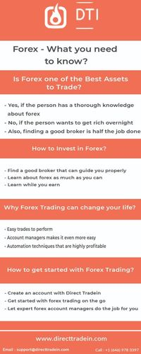 Start forex trading with Direct Tradein,the best forex broker.Get handpicked account managers to manage your trades and a 100% joining bonus.