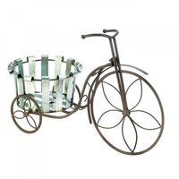 Galvanized Bucket Bike Plant Stand by Decorshop $24.95