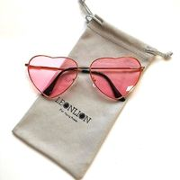 Price: $19.50 | Product: Vintage Heart Gradient Designer Candy Color Sun Glasses | Visit our online store https://ladiesgents.ca