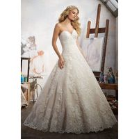 Morilee Magdalena 8108 Strapless Lace Ball Gown Wedding Dress - Crazy Sale Bridal Dresses|Special Wedding Dresses|Unique 2018 New Style Dresses