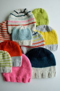 Whit's Knits: Super Soft Merino Hats forEveryone! - The Purl Bee - Knitting Crochet Sewing Embroidery Crafts Patterns and Ideas!