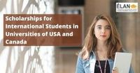 Scholarships for International Students in Universities of USA and Canada