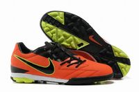 Nike T90 Shoot IV TF Cleats Red Black Fluorescent Yellow
