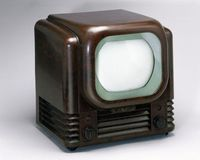 Tiny Screens of the First Black and White TVs