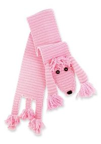 Here's a baby scarf to bark about! Pink knit poodle scarf features buttons and curly yarn and dimensional crochet and knit accents. Fits ages 3 and up. Part of Mud Pie's Knit Wit collection: Our colorful knit accessory collection combines classic ...