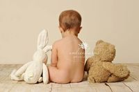 I've seen this a few times and just love this posing idea. Maybe we could do this with the triplets teddy bears owls?