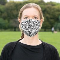 Zebra Stripes Black and White Cloth Face Mask