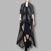 Black and White Wave point irregular Autumn and winter coats,Wool Coat, Winter Coat, Cashmere Coat, Women Coat, Plus Size Clothing
