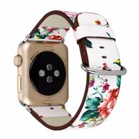 Leather Watch Band for Apple Watch 38mm 42mm Series 1 Series 2 Series 3 Flower Strap Floral Prints Wrist Watch Bracelet I212. $26.71