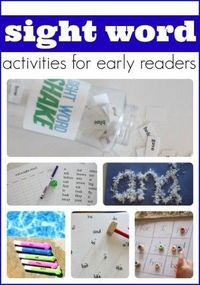 Sight Word Activities for Early Readers