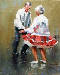 people dancing, old people and keep moving.