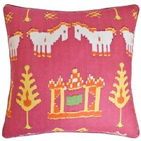 Kingdom Parade Pink Decorative Pillow Ryan Studio $247.00
