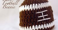 Baby Football Beanie {Free Crochet Pattern} - Wouldn't this be great for your tiny superbowl fans?