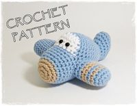 Amigurumi Plane crochet pattern available on Etsy from ByMarika
