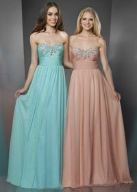 2014 Cheap Beaded Long Prom Dresses