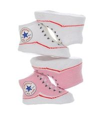 "Converse ""Classic Chuck"" Sneaker Bootie Socks 2-Pack (Sizes 0M - 6M)"