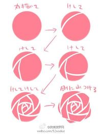 let's draw rose! More