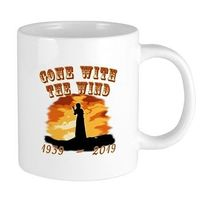 In 1939 Gone with the Wind was released. Celebrate 80 years of the classic movie with GONE WITH THE WIND 1939 - 2019, with sunset at Tara and Scarlett O'Hara with raised fist. By Scarebaby Design.