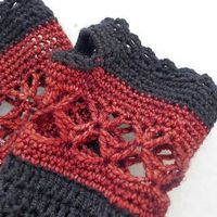 autumn wristwarmers free pattern