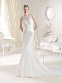Mermaid sweetheart sweep train chiffon wedding dresses