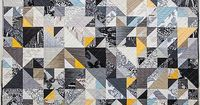 """Braque Quilt Pattern-BRAQUE QUILT PATTERN Finished Quilt: 60"""" x 76"""" �€� Modern quilt inspired by Cubist painter Georges Braque Melinda Lin"""