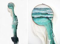Per-based artist Ana Teresa Barboza uses yarn, thread, wool, and fabric to produce unique, tactile embroidery works. The artist has no boundaries to the wa