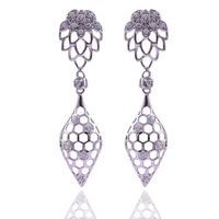 Silver Earring | 925 Sterling Silver Earrings | Sterling Silver Zircon Earrings | Silver Studs $41.99
