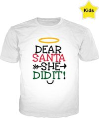 ROCT Christmas T-Shirt She Did It $37.00
