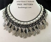 Free Pattern for Necklace Crystal Ice variant by Elaine Vechorik