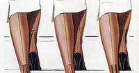 Chesterfield stockings, 1951 Illustration by A. Barlier