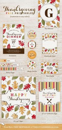 Free Printable Friday: Thanksgiving Suite   The Little Umbrella