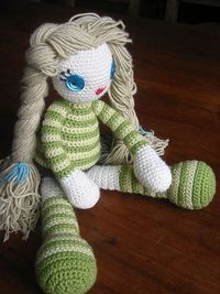 crochet doll - will fit to that red wooden cart