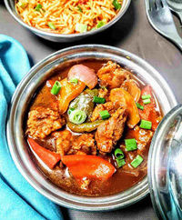 Chilli chicken gravy is a popular Indian Chinese cuisines side dish for noodles and fried rice. Batter fried chicken are stir fried with soya chilly based sauce with herbs and spices.