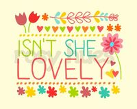 Isn't She Lovely- FLORAL- Kids Wall Art, Nursery art, Baby Girl Nursery