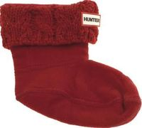 Hunter Red Kids Dual Knit Socks Keep your kids toes cosy with the adorable Dual Knit sock from premium British brand Hunter. Arriving in a rich red fabric, the soft fleece sock features a knitted panel at the top which can be tucked http://www.comparestor...