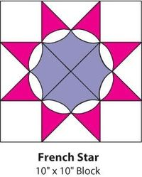 French Star Quilt: free instructions