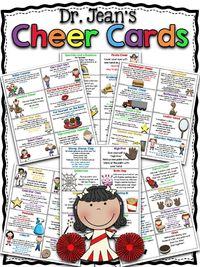 NEW Dr. Jean's Cheer cards have been given a facelift. Here is a collection of all her classic cheers looking better than ever. AND we added a few new ones as well. FREE