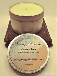 Coconut Lime 6 ounce Soy Candle $8.00
