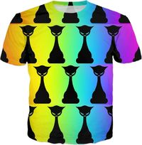 ROTS Psychedelic Cat Shirt $25.00