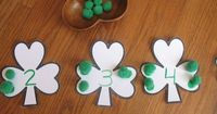 shamrock counting activity - Pinned by