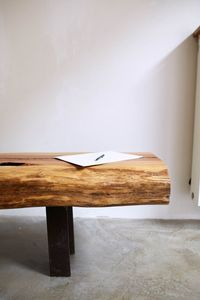 At Hardman Design we work with specially sourced hardwoods to bring special life to sleek modern designs. Full range at https://www.etsy.com/shop/HardmanDesignBuild. Contemporary Wood Bench, HALF-TREE Acacia Long Bench on Recycled Steel Legs, Handcrafted ...
