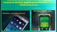 BlackBerry and Windows Mobile Application Development Platforms