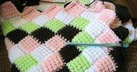 FREE PATTERN: Entrelac Tunisian Crochet Baby Blanket (link to video tutorial in comments)