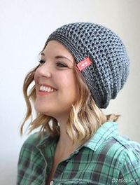 Simple Slouch Hat by Alexa Middleton -free pattern