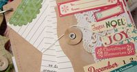 Decorated envelope with notes. Beautiful papercraft