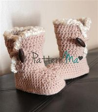 Crochet+Toddler+Boot+Pattern+Instant+download+11+by+PatternMa,+$5.00