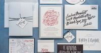 Modern Calligraphy Letterpress Wedding Invitations by Gus & Ruby Letterpress / Oh So Beautiful Paper / Photo by Brea McDonald