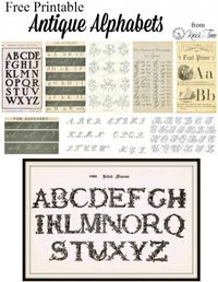 Free printable antique alphabet font from the early 1900's from Knick of Time.